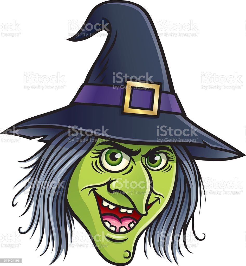 Wicked witch face stock vector art more images of