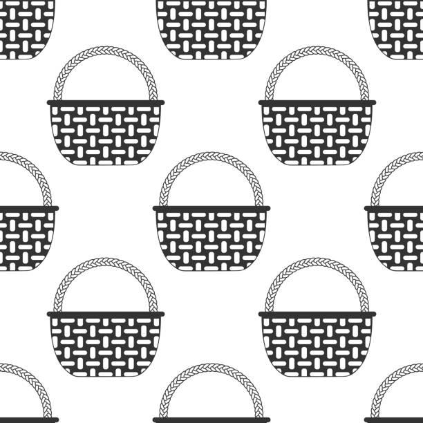 Royalty Free Making Basket Clip Art, Vector Images