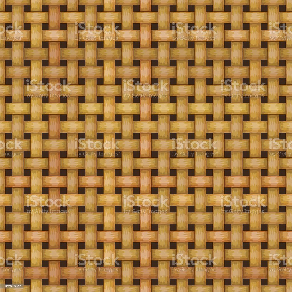 wicker basket weaving pattern seamless texture royalty-free stock vector art