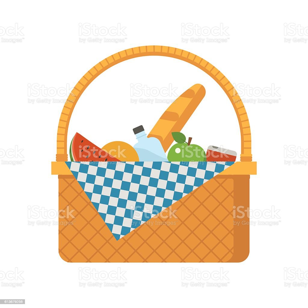 Korbware Picknick-Korb – Vektorgrafik