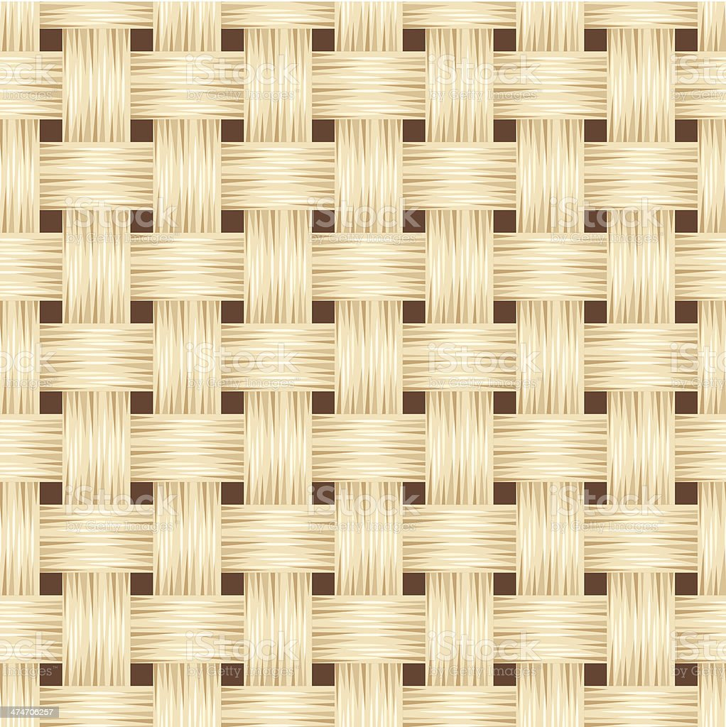 Wicker texture. Vector seamless background. vector art illustration