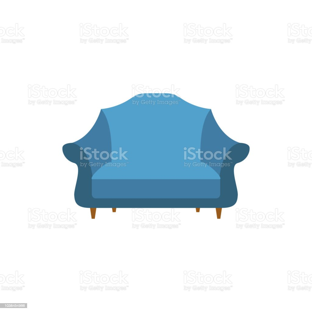 Wide Armchair Flat Icon Interior Or Room Design Template In Flat