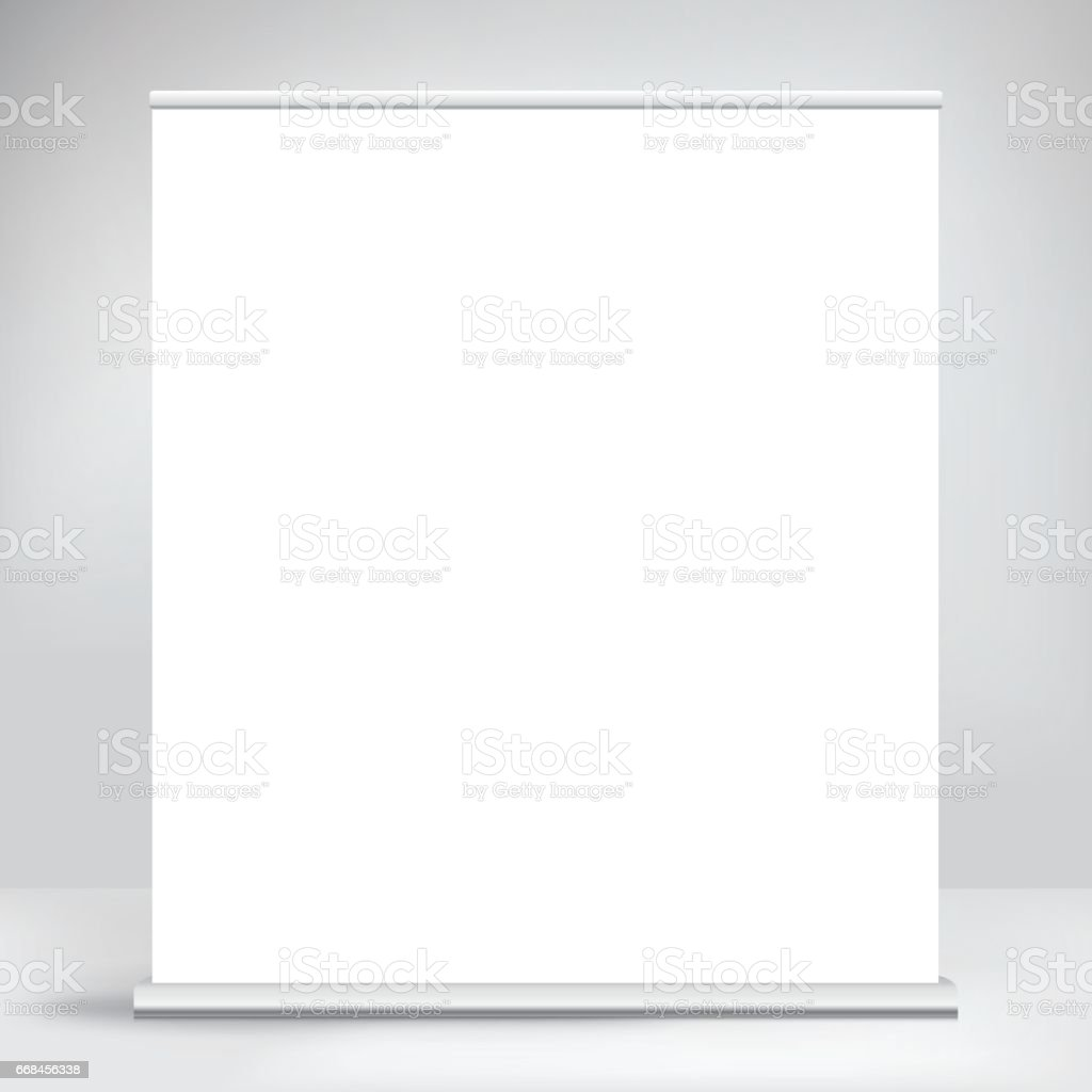 Wide banner, stand. vector art illustration