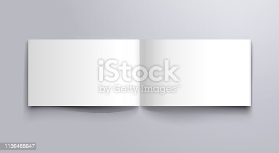 wide book open pages mockup