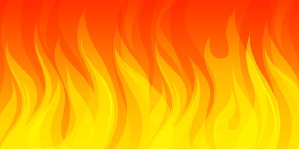 stockillustraties, clipart, cartoons en iconen met brede vuur achtergrond - illustraties van bosbrand