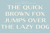 istock Wide high-contrast sans-serif font. The quick brown fox pangram. 1278048967