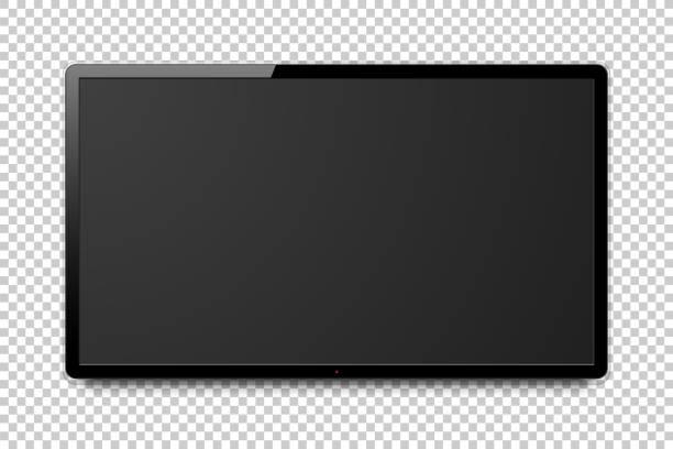 全体リアル 4 k テレビ画面 - テレビ点のイラスト素材/クリップアート素材/マンガ素材/アイコン素材
