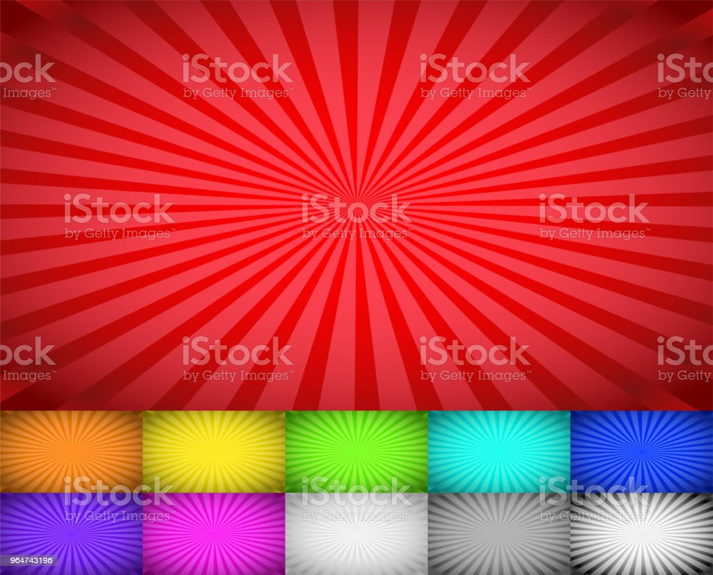 Wider Gradation sunburst background set royalty-free wider gradation sunburst background set stock vector art & more images of abstract