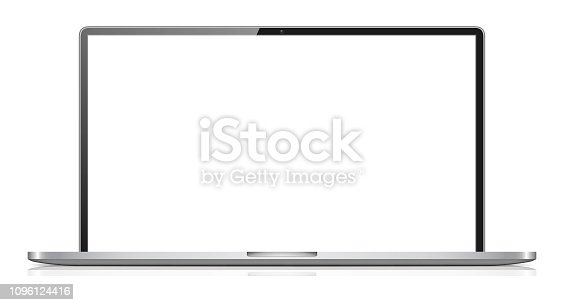 Vector Illustration of a Laptop Isolated on White Background