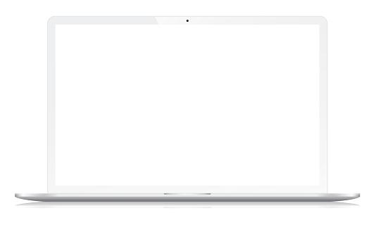 Widescreen Modern Notebook on White