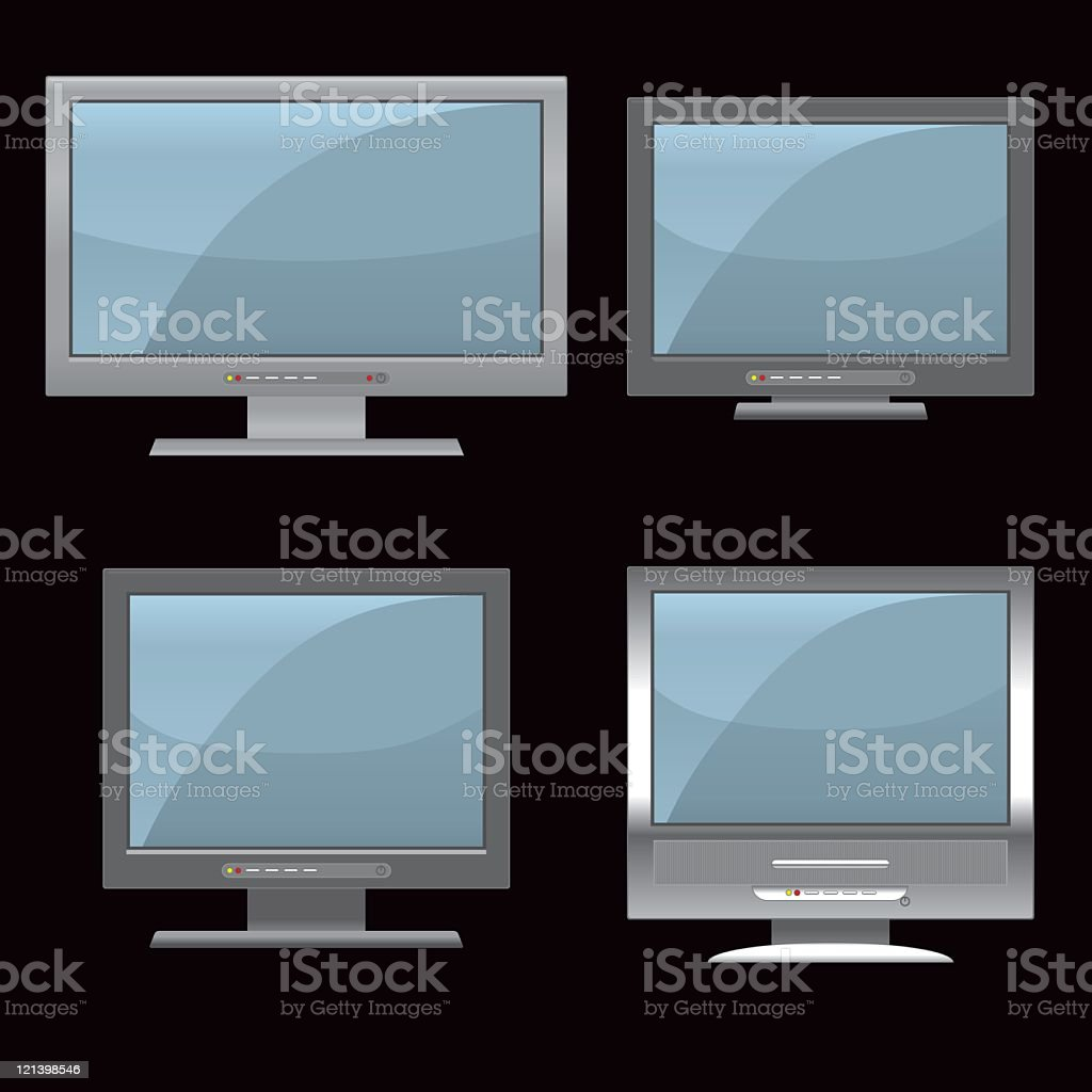 Widescreen TV royalty-free stock vector art