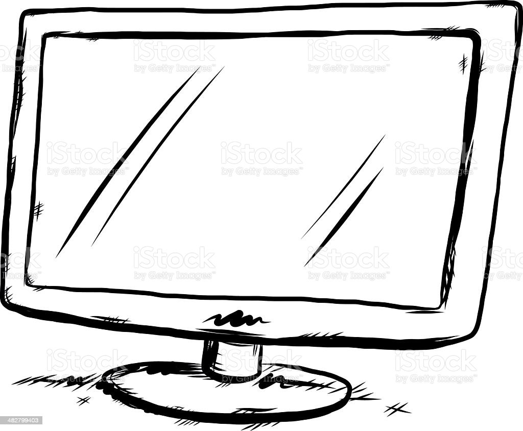 widescreen tv royalty-free stock vector art