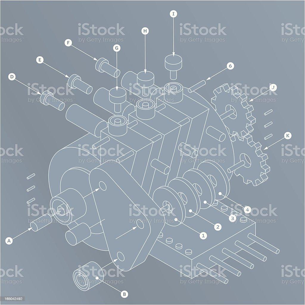 widget plans vector art illustration