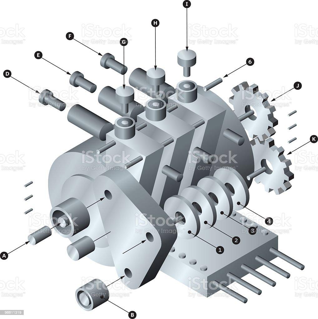 ВИДЖЕТ - Векторная графика Электродвигатель роялти-фри