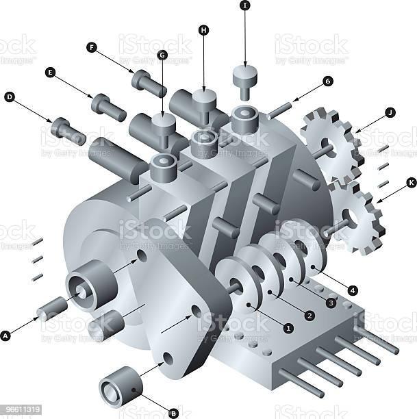 Виджет — стоковая векторная графика и другие изображения на тему Электродвигатель