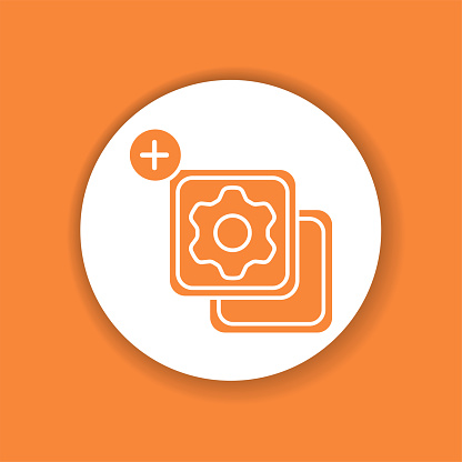 Widgets glyph color icon. SMM promotion. Sign for web page, mobile app, button, logo. Vector isolated element.