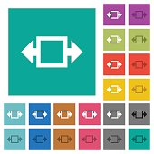 Width tool square flat multi colored icons