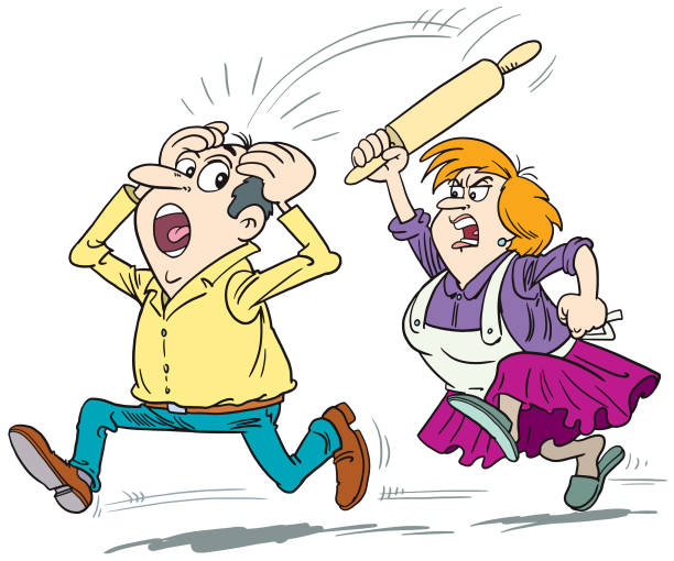 Stunning cliparts | Husband And Wife Fighting Clipart Images| (45)