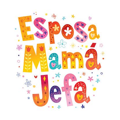 Wife Mom Boss in Spanish