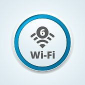 Wi-Fi 6 generation button illustration
