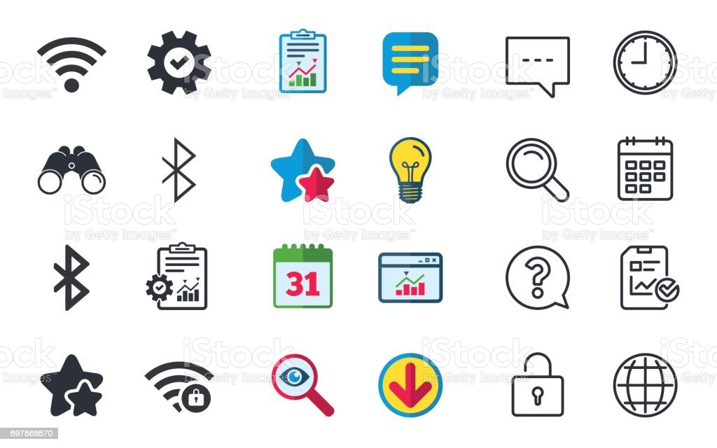 Wifi And Bluetooth Icon Wireless Mobile Network Stock Vector Art