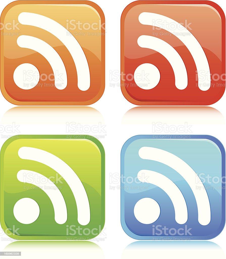 Wifi Button royalty-free stock vector art
