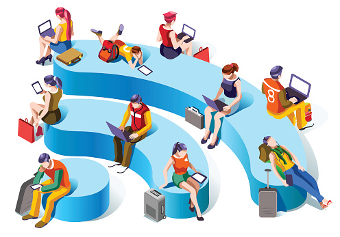 Wireless technology stock illustrations