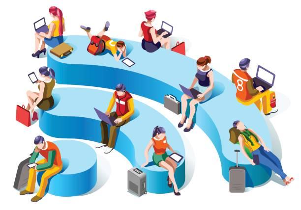 Wireless technology stock illustrations
