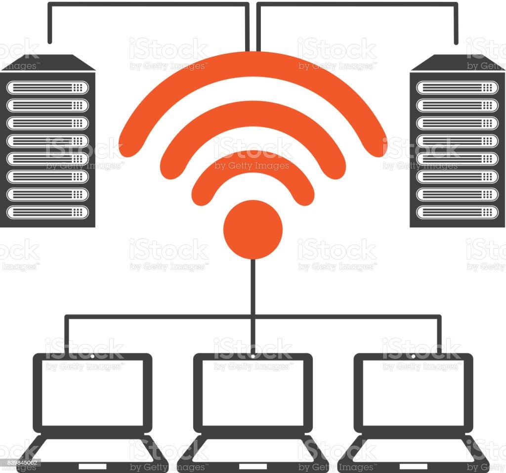 wifi connection design vector art illustration