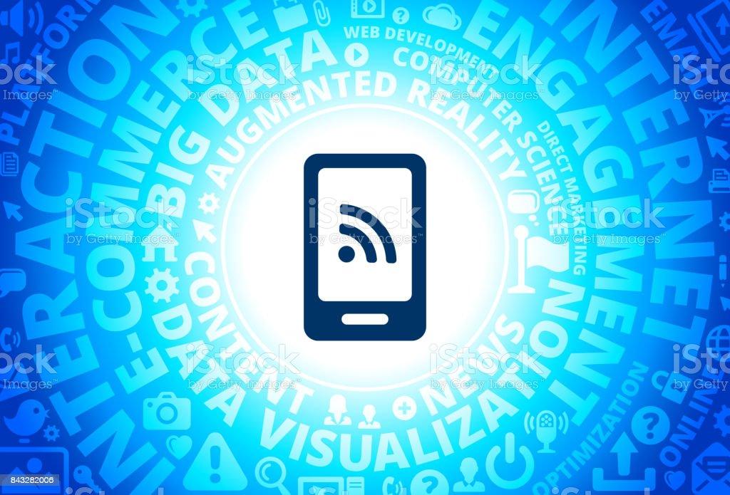 Wifiverbindung Auf Smartphonesymbol Auf Internet Moderne Technik ...