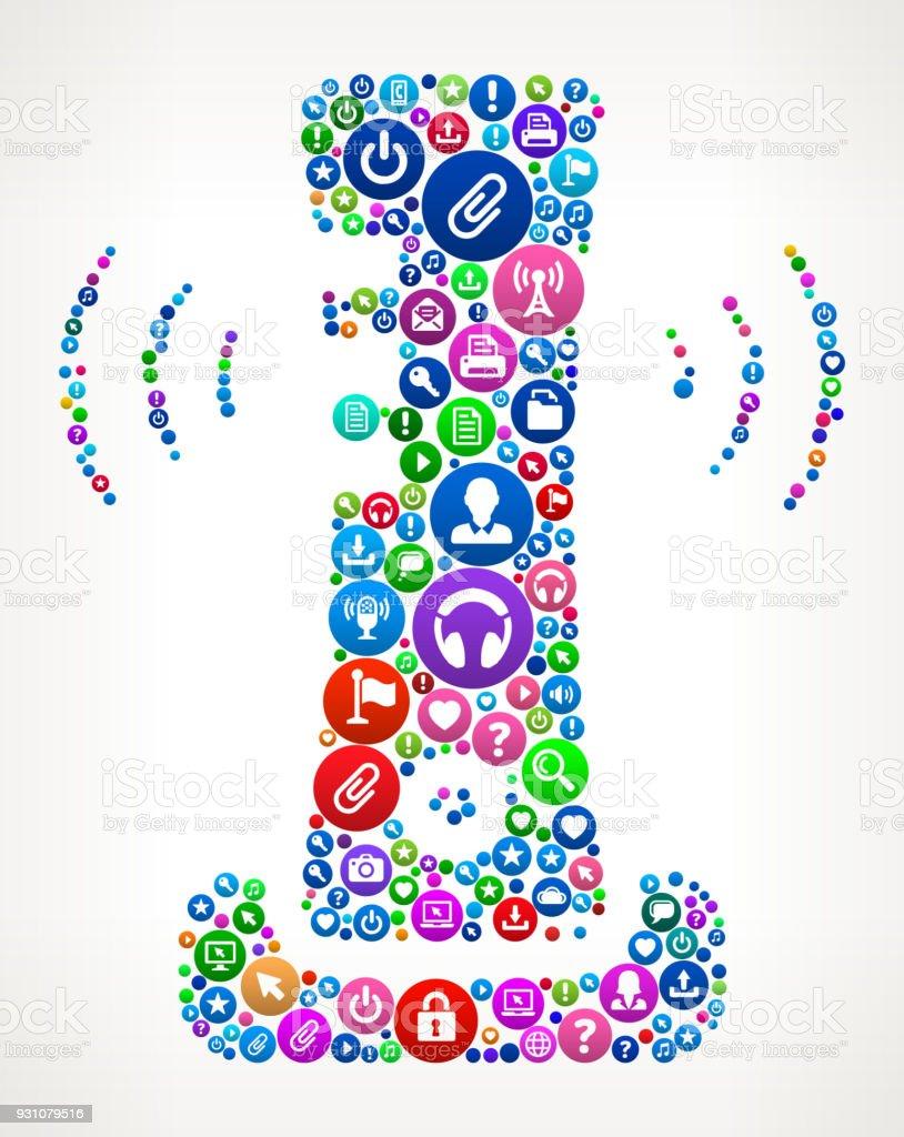 Wi-Fi Game System Internet Communication Technology Icon Pattern vector art illustration