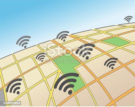 Wifi Hotspots in an Urban Area