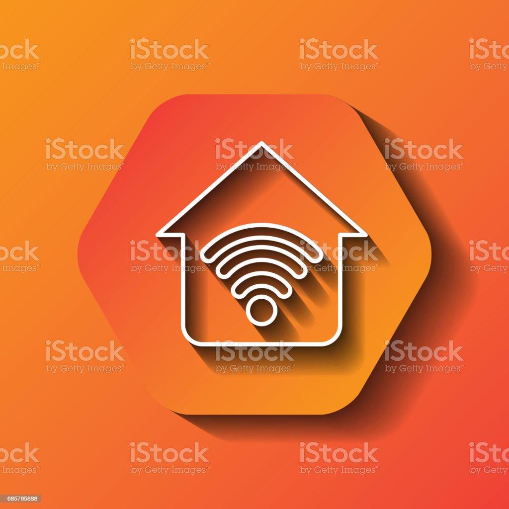 Wifi icon. Communication design over hexagon. Vector graphic wifi icon communication design over hexagon vector graphic - stockowe grafiki wektorowe i więcej obrazów bez ludzi royalty-free