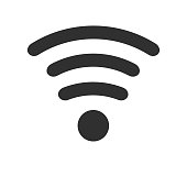 Wifi icon isolated on white background. Vector illustration.