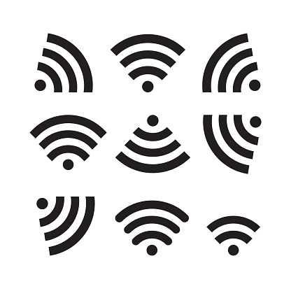 Wifi Icon Set Vector Illustration Free Royalty Images Stock Illustration - Download Image Now