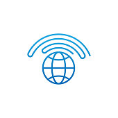 WiFi icon vector design illustration. WiFi vector flat icon symbol for website, mobile, logo, graphic elements, app, UI. WiFi icon isolated on white background.