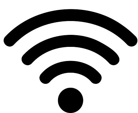 black wifi symbol design element