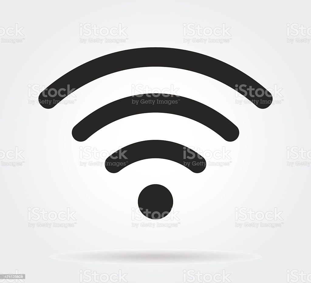 wifi icon vector art illustration