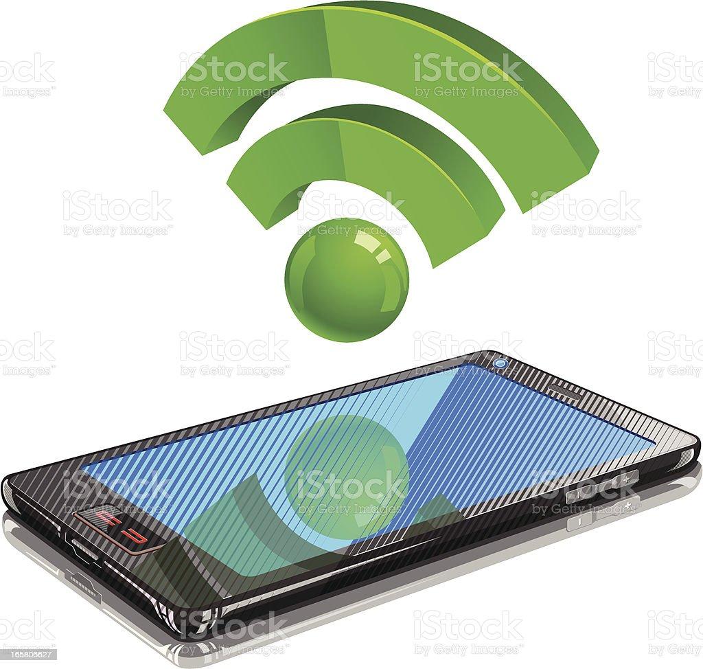 Wifi in Smart Phone vector art illustration