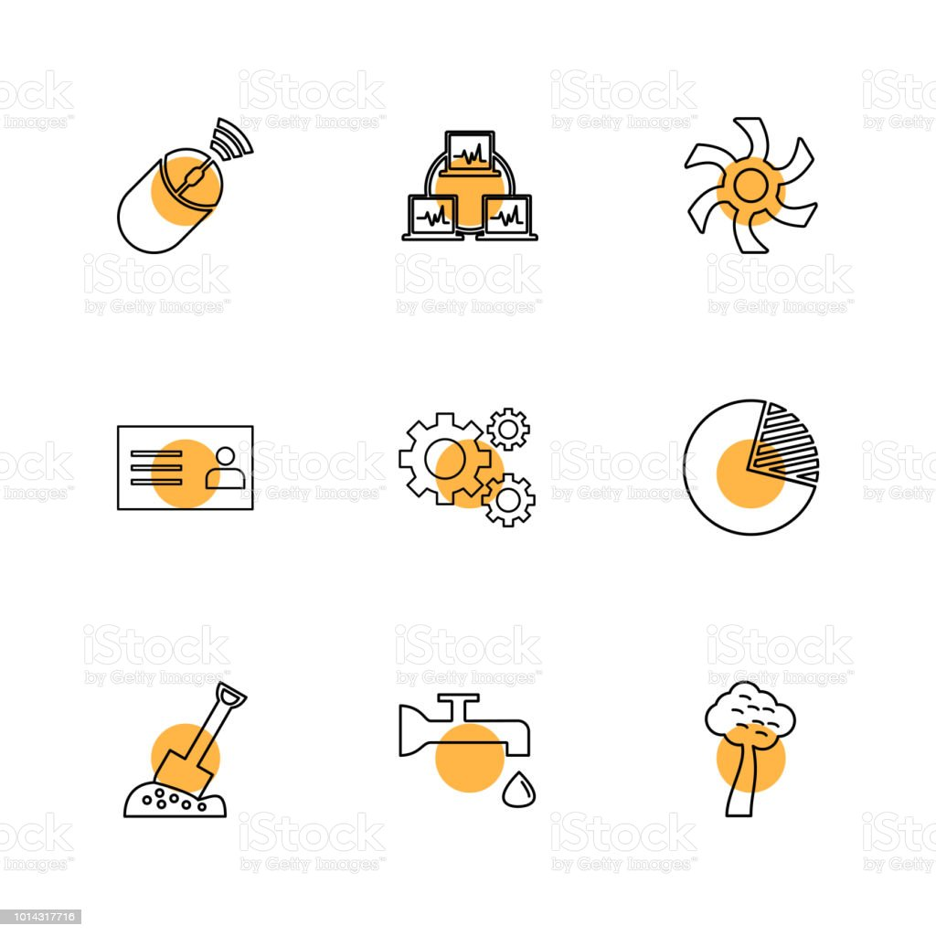 Wifi Internet Connectivity Pie Chart Network Eps Icons Set Vector