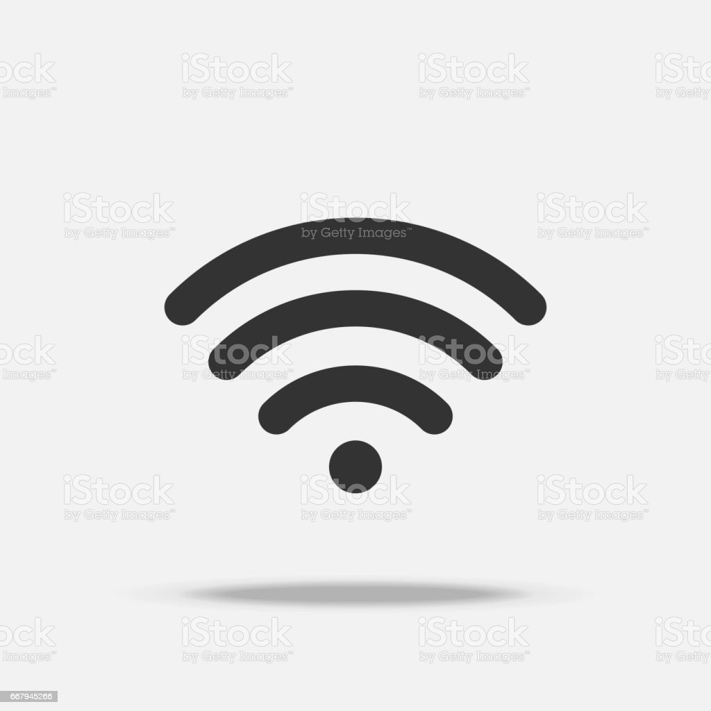 Wifi internet flat icon with shadow royalty-free wifi internet flat icon with shadow stock illustration - download image now