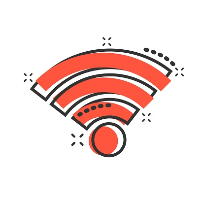 Wifi Internet Icon In Comic Style Wifi Wireless Technology Vector Cartoon Illustration Pictogram Network Wifi Business Concept Splash Effect Stock Illustration Download Image Now Istock