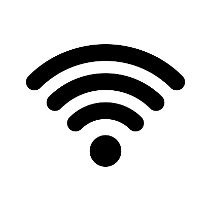 Wi-Fi internet icon. Vector wi fi wlan access, wireless wifi hotspot signal sign clipart
