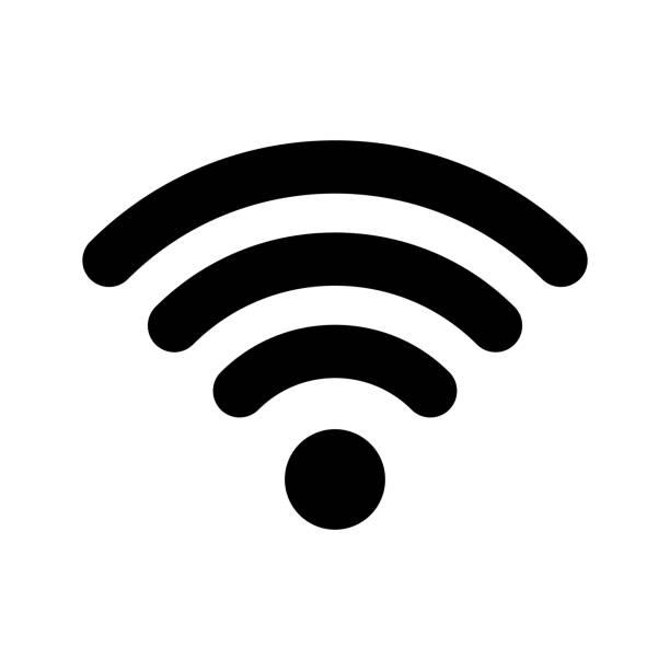 와이파이 인터넷 아이콘입니다. 벡터 와이파이 fi wlan 액세스, 무선 와이파이 핫스팟 신호 표시 - 상징 stock illustrations