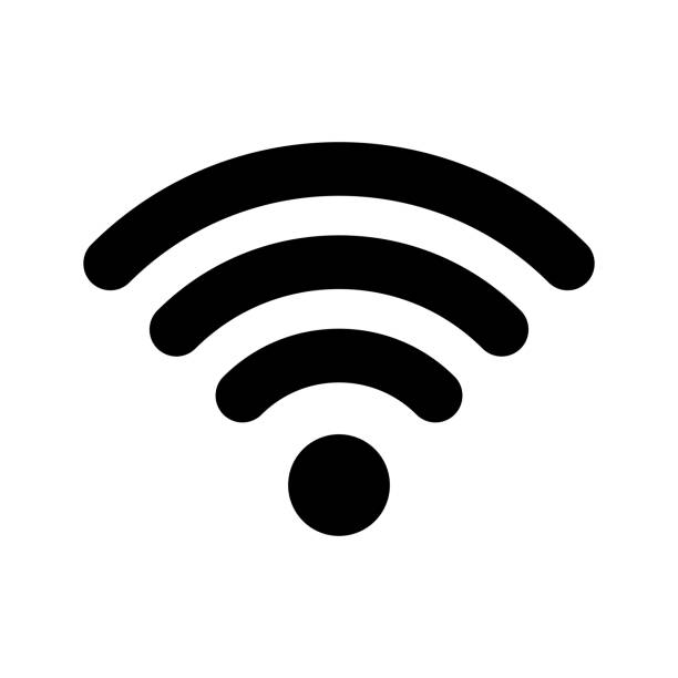 wi-fi internet icon. vector wi fi wlan access, wireless wifi hotspot signal sign - internet stock illustrations