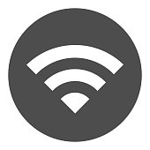 Wifi internet solid icon. Wireless network signal coverage symbol, glyph style pictogram on white background. Network or electronics sign for mobile concept and web design. Vector graphics