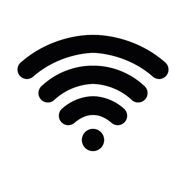 wifi logo - wireless technology stock illustrations, clip art, cartoons, & icons