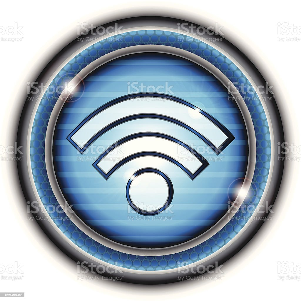 Wifi Network Button royalty-free stock vector art