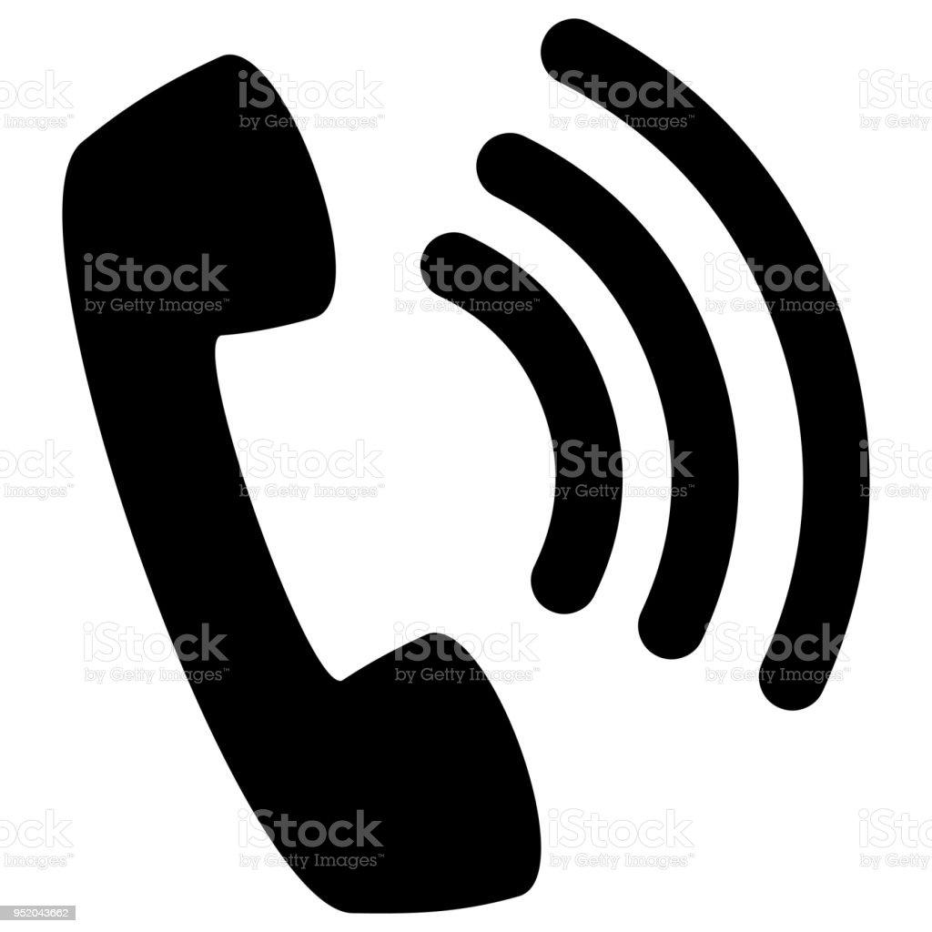 Wifi Phone Silhouette vector art illustration
