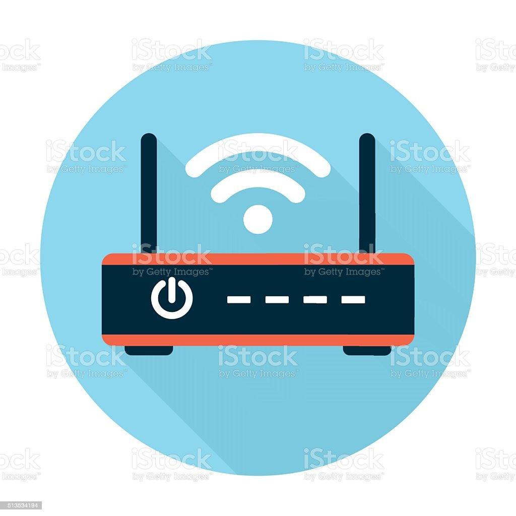 Wifi router icon flat vector art illustration